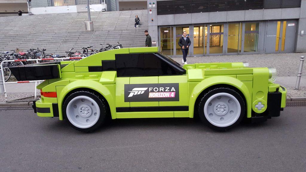 very large lego car